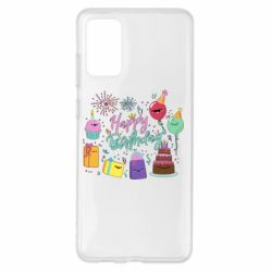 Чохол для Samsung S20+ Happy Birthday