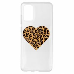 Чехол для Samsung S20+ Heart with leopard hair