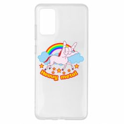 Чехол для Samsung S20+ Heavy metal unicorn