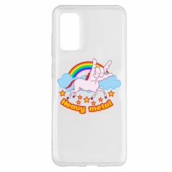 Чехол для Samsung S20 Heavy metal unicorn