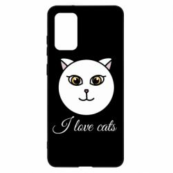 Чохол для Samsung S20+ I love cats art