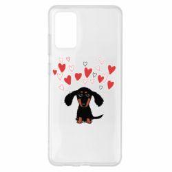 Чохол для Samsung S20+ I love dachshund