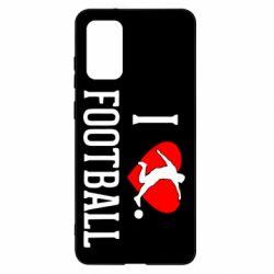 Чохол для Samsung S20+ I love football