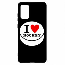 Чохол для Samsung S20+ I love hockey