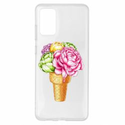 Чохол для Samsung S20+ Ice cream flowers