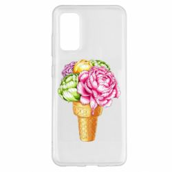 Чохол для Samsung S20 Ice cream flowers