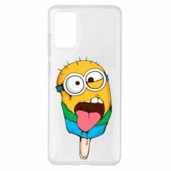 Чехол для Samsung S20+ Ice cream minions