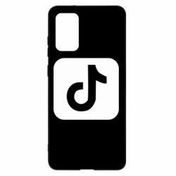Чехол для Samsung S20+ Иконка тик ток
