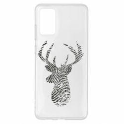 Чохол для Samsung S20+ Imprint of human skin in the form of a deer