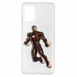 Чохол для Samsung S20+ Iron man with the shadow of the lines