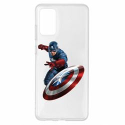 Чехол для Samsung S20+ Капитан Америка