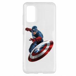 Чехол для Samsung S20 Капитан Америка