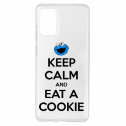 Чехол для Samsung S20+ Keep Calm and Eat a cookie