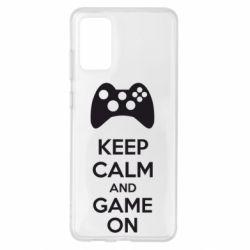 Чехол для Samsung S20+ KEEP CALM and GAME ON