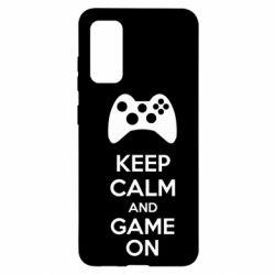 Чехол для Samsung S20 KEEP CALM and GAME ON