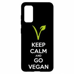 Чехол для Samsung S20 Keep calm and go vegan