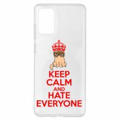 Чохол для Samsung S20+ KEEP CALM and HATE EVERYONE