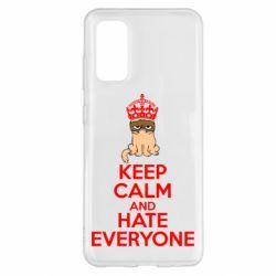 Чехол для Samsung S20 KEEP CALM and HATE EVERYONE