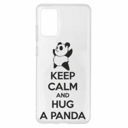 Чохол для Samsung S20+ KEEP CALM and HUG A PANDA