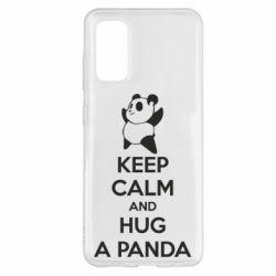 Чохол для Samsung S20 KEEP CALM and HUG A PANDA