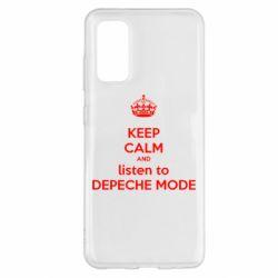 Чехол для Samsung S20 KEEP CALM and LISTEN to DEPECHE MODE