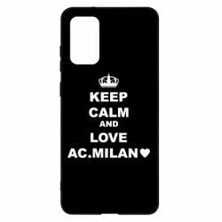 Чохол для Samsung S20+ Keep calm and love AC Milan