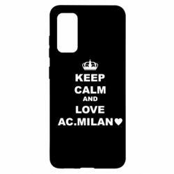 Чохол для Samsung S20 Keep calm and love AC Milan