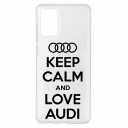 Чехол для Samsung S20+ Keep Calm and Love Audi