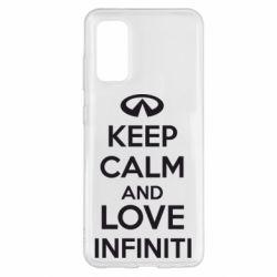 Чехол для Samsung S20 KEEP CALM and LOVE INFINITI