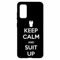 Чехол для Samsung S20 Keep Calm and suit up!