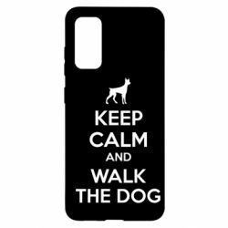 Чохол для Samsung S20 KEEP CALM and WALK THE DOG