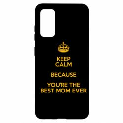 Чохол для Samsung S20 KEEP CALM because you're the best ever mom