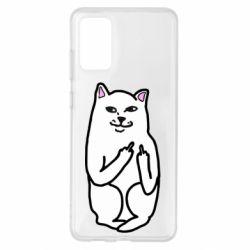 Чехол для Samsung S20+ Кот с факом