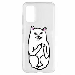 Чехол для Samsung S20 Кот с факом