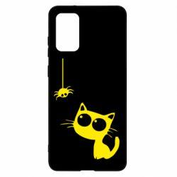 Чохол для Samsung S20+ Котик і павук