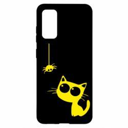 Чохол для Samsung S20 Котик і павук