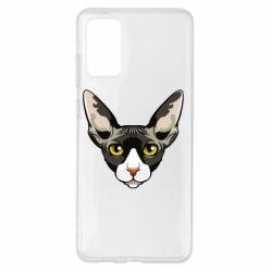 Чохол для Samsung S20+ Котя сфінкс жовті очі