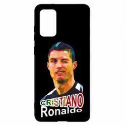 Чохол для Samsung S20+ Крістіано Роналдо, полігональний портрет