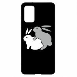 Чохол для Samsung S20+ Кролики