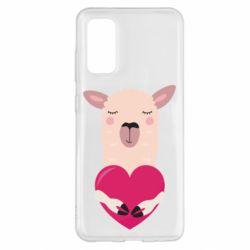 Чохол для Samsung S20 Lama with heart