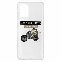 Чохол для Samsung S20+ Life is good, take it show