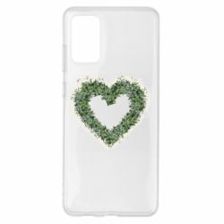 Чехол для Samsung S20+ Lilies of the valley in the shape of a heart