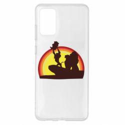 Чохол для Samsung S20+ Lion king silhouette