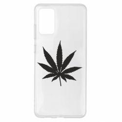 Чохол для Samsung S20+ Листочок марихуани