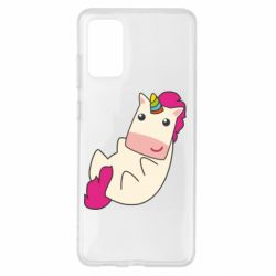 Чехол для Samsung S20+ Little cute unicorn