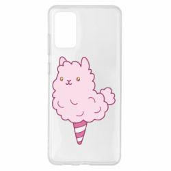 Чехол для Samsung S20+ Llama Ice Cream