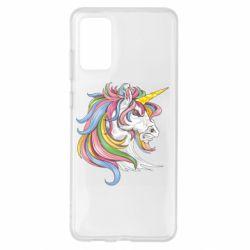 Чохол для Samsung S20+ Кінь з кольоровою гривою