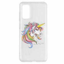 Чохол для Samsung S20 Кінь з кольоровою гривою