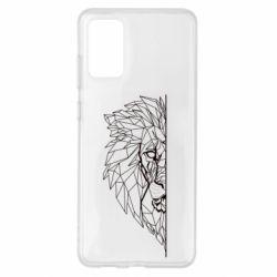 Чохол для Samsung S20+ Low poly lion head