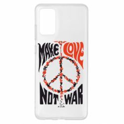 Чохол для Samsung S20+ Make love, not war